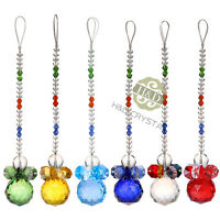 Handmade Suncatcher Crystal Pendulum Prisms Hanging Feng Shui Ball Pendants 30mm