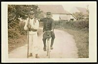 SOLDIERS MILITARY BIKES REGIMENT BICYCLE WW1 ANTIQUE PHOTO RPPC POSTCARD