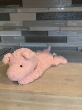 Retired Mini Plush Pink Terry Cloth Beanie Stuffed Hamlet The Pig by Russ Toys