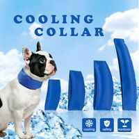 Hot Summer Dog Cooling Collars Necklace Sizes Blue Cool Down  Collars S-XL