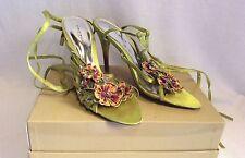 Karen Millen Women's Textile Strappy, Ankle Straps Stiletto Shoes
