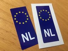 Dutch Euro Number Plate Stickers (Pair)