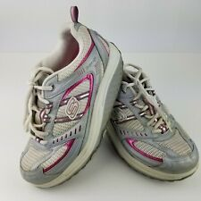Sketchers Shape Ups Womens Size 7.5 Sneakers Shoes White Silver Pink 11814