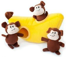 Zoo Friends Burrow - Interactive Squeaky Hide and Seek Plush Dog Toy