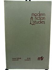 English Department PURDUE UNIVERSITY  Modern Fiction Studies Vol 25 #4 1979 1989