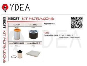 Kit Inspección Filtros Fiat Ducato (MY.2006) 2.3 Mj (2.287cc - Ydea K502FT