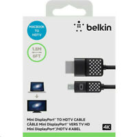 BELKIN F2CD080bt MINI DISPLAYPORT TO HDTV CABLE HDMI 1080p 4k CABLE 1.8M