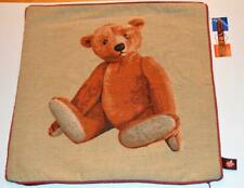 "New Tag ART de LYS France Jaquard Tapestry TEDDY BEAR Beige 19""x19"" Pillow Cover"