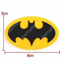 Black Batman Super Heroes Tactical Army Airsoft Pvc Hook Loop Patch Klettband