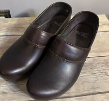 Dansko Prima Clogs Slip On Brown Nursing Professional Women's Size 38 US shoes