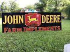 Antique Vintage Old Style John Deere Farm Sign 6 Foot!!