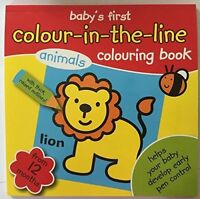 My Colouring Book Babys First Colouring Book Colour in the line From 12 Months
