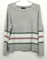 Kut from Kloth Womens Stripe Print Crew Neck Sweater Long Sleeves Size Medium