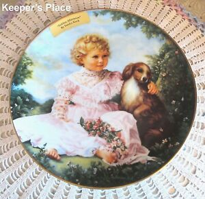 Sandra Kuck GOLDEN AFTERNOON 2nd Issue In Barefoot Children Collector Plate MINT