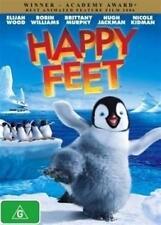 HAPPY FEET Elijah Wood, Robin Williams, Brittany Murphy, Hugh Jackman DVD NEW
