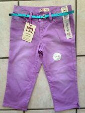 NWT Girl's Size 12 Regular L.E.I. Light Purple Crop Capri Pants