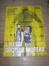 """AFFICHE ORIGINALE FILM """"L'ILE DU DOCTEUR MOREAU"""" / CHARLES LAUGHTON / 120X160"""