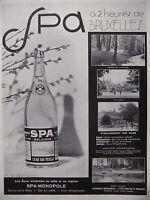 PUBLICITÉ DE PRESSE 1935 EAU SPA A 2 HEURES DE BRUXELLES BELGIQUE - ADVERTISING
