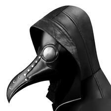 Plague Doctor Steampunk Bird Leather Halloween Party Mask Costume Cosplay Beak