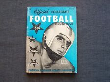 1954 Official Collegiate Football Record Book, Dick Carr of Columbia on cover