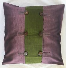 Pair of 'FORTUNE - Purple' SILK Cushion Covers