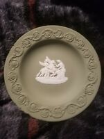 Wedgwood Jasperware  Green Trinket Plate 4 1/2""
