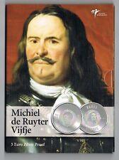 €5 MUNT ZILVER PROOF 2007 MICHIEL DE RUYTER BLISTER