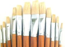 Bristle Hair Flat Style Paint Brush Set 12pcs ART198