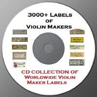 Vintage Violin Maker Label CD Collection 3,000+ HUGE!