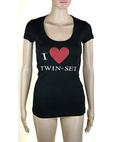 T-Shirt Maglietta Donna Maglia TWIN-SET Simona Barbieri Made in Italy I239 S/M