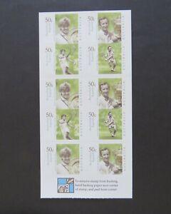 2003 Australian Legends Tennis Players Philatelic Barcode Booklet SG SB159