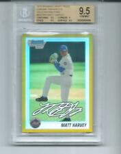 2010 BOWMAN CHROME GOLD #/50 REF AUTO MATT HARVEY BGS 9.5 GEM MINT RC