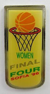 FINAL FOUR WOMEN IN SOFIA BULGARIA 1996 EUROPEAN BASKETBALL OFFICIAL PIN BADGE