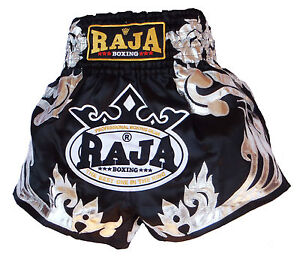 Short boxe Thaïlandaise Muay Thai RAJA boxing satin toutes tailles