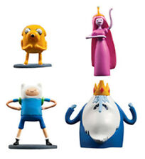 New ADVENTURE TIME Cartoon Network MINI TOY PLAYSET FIGURES COMPLETE SET 4 FINN!