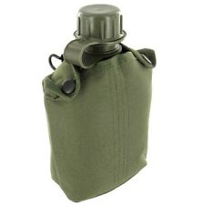 1 Ltr ARMY WATERBOTTLE British military olive hiking flask bottle & belt pouch