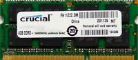 Crucial ram memory 4GB DDR3 PC3-12800,1600MHz  for 2012 Apple Macbook Pro's