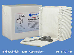 Hygiene Einlagen Vlies Inkontinenzvorlagen Babywindeln Zusatz Blasenschwäche
