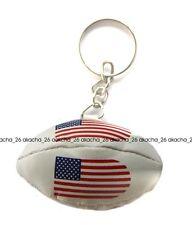 Schlüsselanhänger keyring flagge fahne flaggen ring RUGBY BALL USA AMERICA