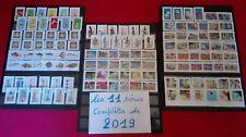 Les 11 séries différentes de 2019 timbres auto adhésifs  oblitérés France