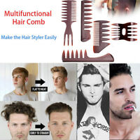 5X Hair Comb For Men Unisex Wide Tooth Hair Design Insert Hair Pick Comb Show UK