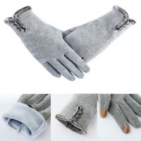 Women Winter Fleece Gloves Fleece Thermal Touch Screen Thick  Warm Comfy Soft