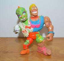 Vintage TOXIC CRUSADERS HEADBANGER Action Figure 1991 Playmates 2 Headed