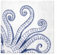 4 x paper napkins for decoupage, crafts, scrapbooks - Octopus