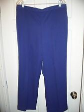 NEW Alfred Dunner Size 16  Periwinkle 1/2 Elastic Waist Pants Silky Feel Short