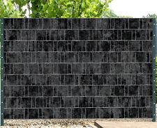 Florenz Marble - Melange mit schwarzen Motivdruck - Sichtschutz Streifen Zaun