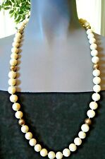 LOVELY MOTHER OF PEARL NECKLACE- 8 Gold Beads-14K-May be plated-Sterling Catch