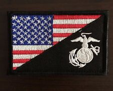 AMERICAN FLAG MARINE CORPS / USMC PATCH TACTICAL RED, WHITE, BLUE, BLACK NEW