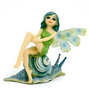Fairpeeps Mini Cora Fantasy Fairy Tale Garden Cute Figurine Snail Decor Gift