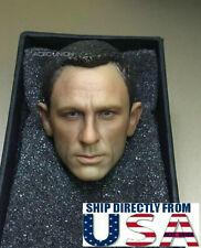 1/6 Daniel Craig Head Sculpt 3.0 For James Bond 007 Skyfall Spectre Hot Toys USA